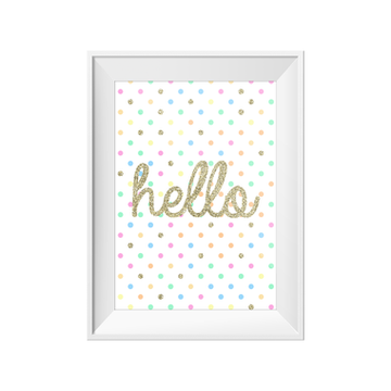 Hello Print A4 | Little Lights Co.