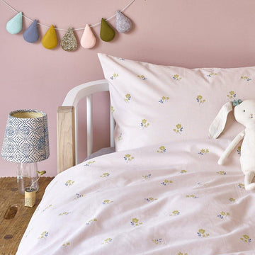 Flora - Organic Cotton Single Duvet Cover Set | Hibou Home | Little Lights Co.
