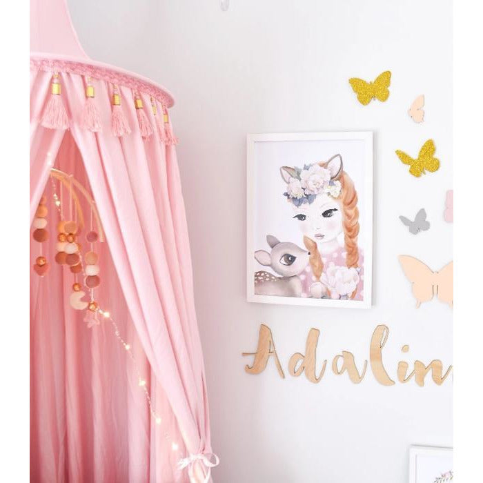 Pink Canopy | Hope & Jade  | Little Lights Co.