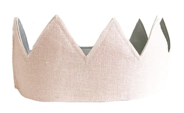 Pink, Linen and Silver Crown | Alimrose | Little Lights Co.