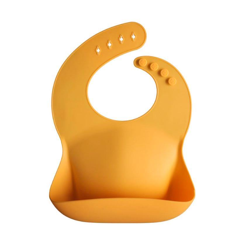 Silicone Baby Bib | Mustard - Little Lights Co.