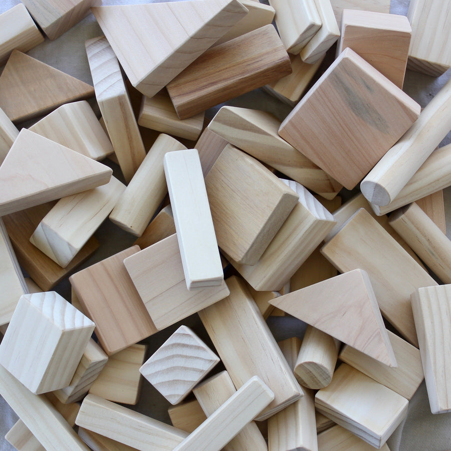 Natural Wooden Block Set | Grove and Willow - Little Lights Co.