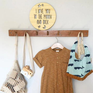 To the Moon and Back Plaque | Little Lights Co.