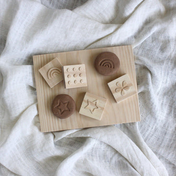 Wooden Dough Stamps | Grove & Willow - Little Lights Co.