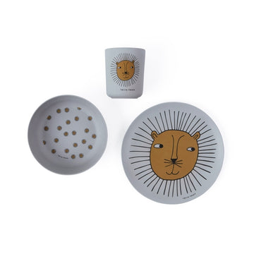 Lion Bamboo Tableware Set | OYOY | Little Lights Co.