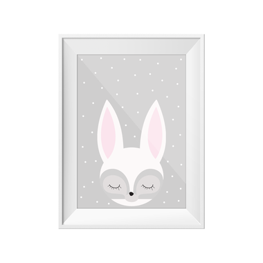 Little Rabbit A4 Print | Little Lights Co.