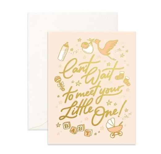 Can't wait to Meet Little One Card  | Fox and Fallow | Little Lights Co.