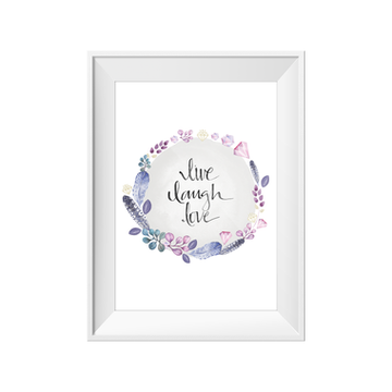 Live Laugh Love A4 Toucan Print | Little Lights Co.