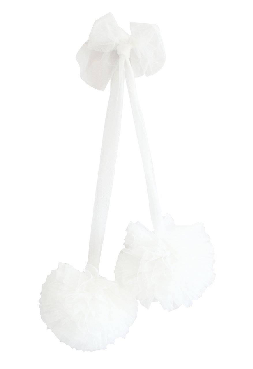 Alimrose | Tulle Pom Pom Decor Set 2pcs - Ivory | Little Lights Co.