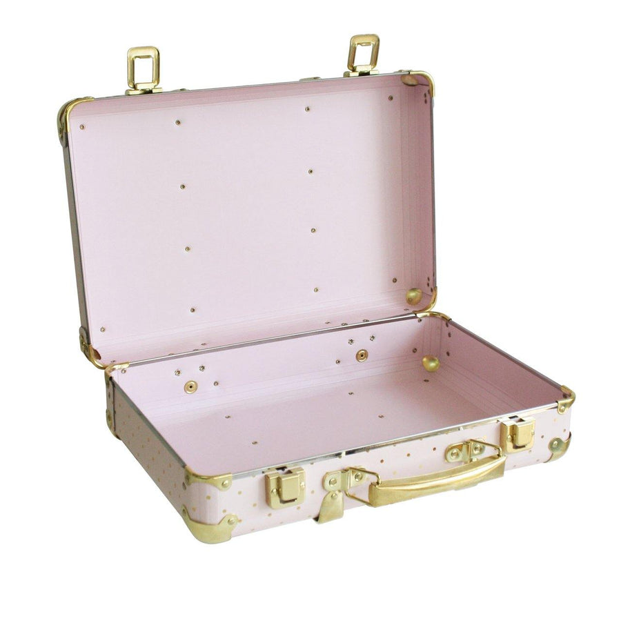 Vintage Style Suitcase - Pink and gold spot | Alimrose - Little Lights Co.