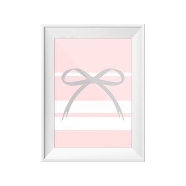Pastel Bow Toucan Print | Little Lights Co.