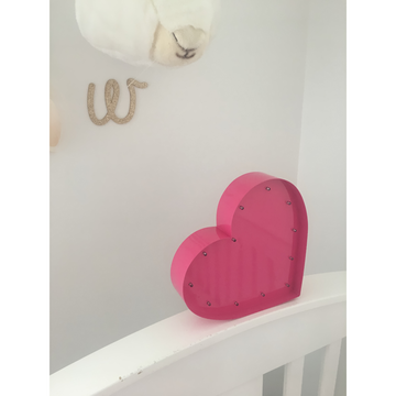 Pink Heart Marquee Light | Little Lights Co.