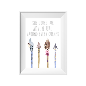 She Looks For Adventure Toucan Print | Little Lights Co.