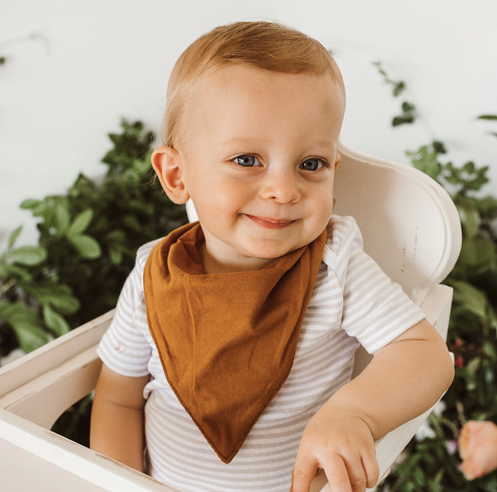 Bronze Dribble Bib | Snuggle Hunny Kids | Little Lights Co.