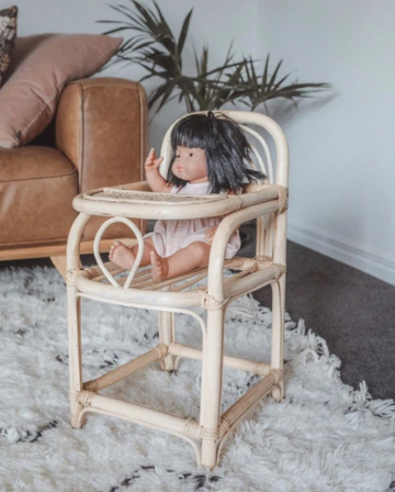 Rattan Dolls High Chair | Inkah PRE ORDER | Little Lights Co.