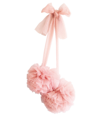 Tulle Pom Pom Decor Set 2pcs - Sparkle Blush | Alimrose | Little Lights Co.
