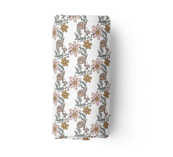 Bamboo Muslin Swaddle, Piper | Piper Bug | Little Lights Co.