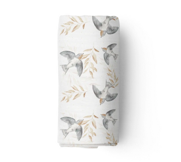 Bamboo Muslin Swaddle, Shelley | Piper Bug - Little Lights Co.