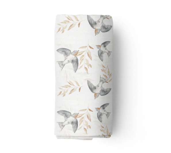 Bamboo Muslin Swaddle, Shelley | Piper Bug | Little Lights Co.