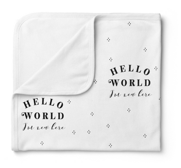 Jersey Swaddle, Hello World | Piper Bug - Little Lights Co.