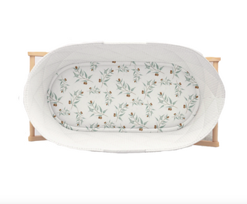 Jersey Fitted Bassinet Sheet, Ray | Piper Bug - Little Lights Co.