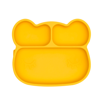 Bear Stickie Plate, Yellow | We Might Be Tiny - Little Lights Co.
