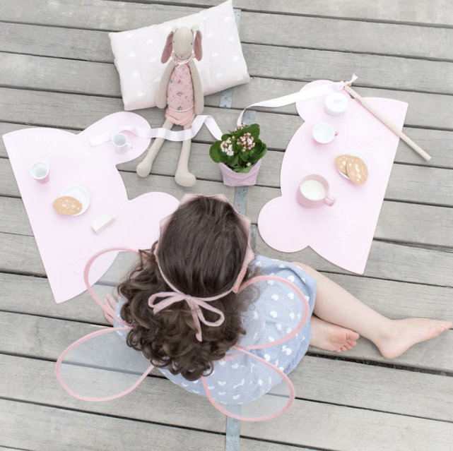 Bear Placemat, Powder Pink | We Might Be Tiny | Little Lights Co.