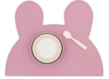 Bunny Placemat, Dusty Rose | We Might Be Tiny - Little Lights Co.