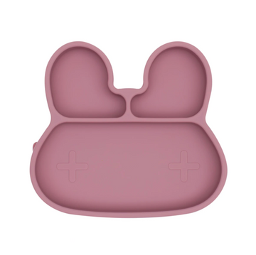 Bunny Stickie Plate, Dusty Rose | We Might Be Tiny | Little Lights Co.