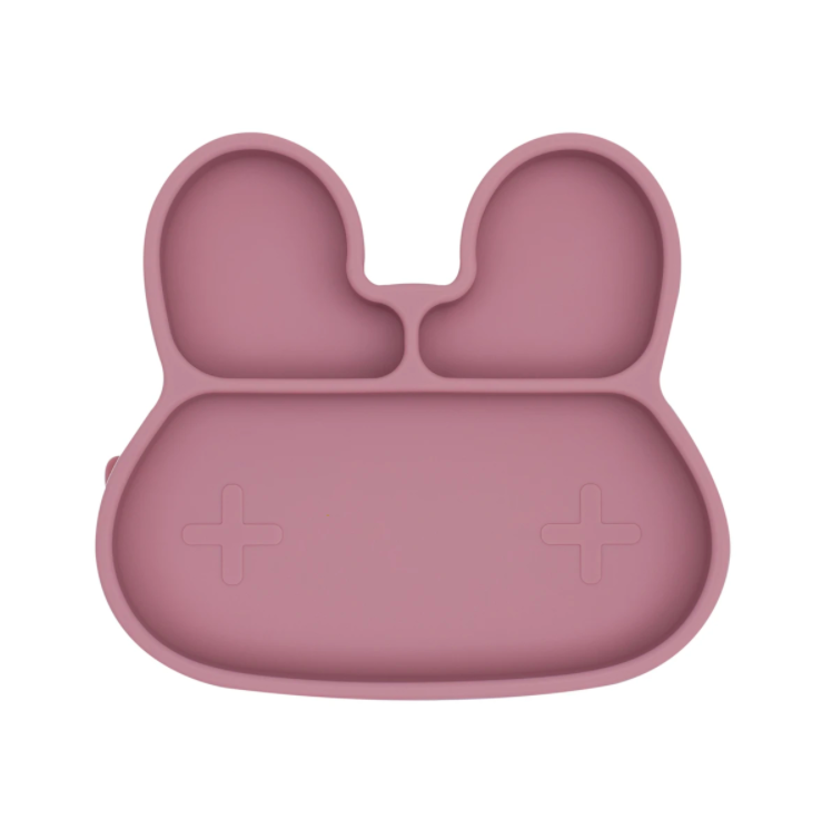 We Might Be Tiny | Bunny Stickie Plate, Dusty Rose | Little Lights Co.