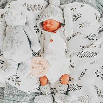 Organic Muslin Wrap, Grey Fern | Snuggle Hunny Kids | Little Lights Co.