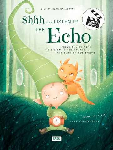 Shh..... Listen to the Echo, sound and light book | Sassi Junior | Little Lights Co.