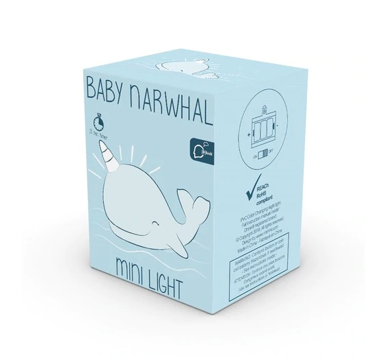 Night Light - Baby Narwhal Mini