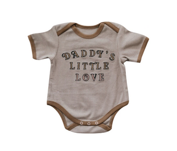Daddy's Little Love Romper | Piper Bug
