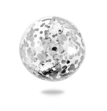 Confetti Beach Ball,  Silver | Minnidip