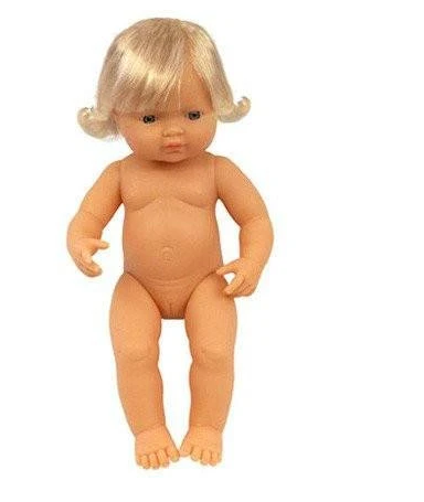 Miniland Doll, Anatomically Correct Baby Caucasian Girl, 38cm