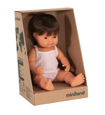 Miniland Doll, Anatomically Correct Baby Caucasian Boy, 38cm