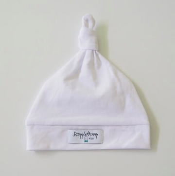 Snuggle Hunny Kids | Knotted Beanie, White