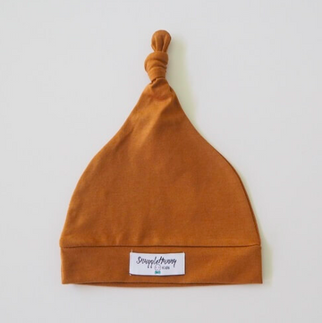 Snuggle Hunny Kids | Knotted Beanie, Bronze
