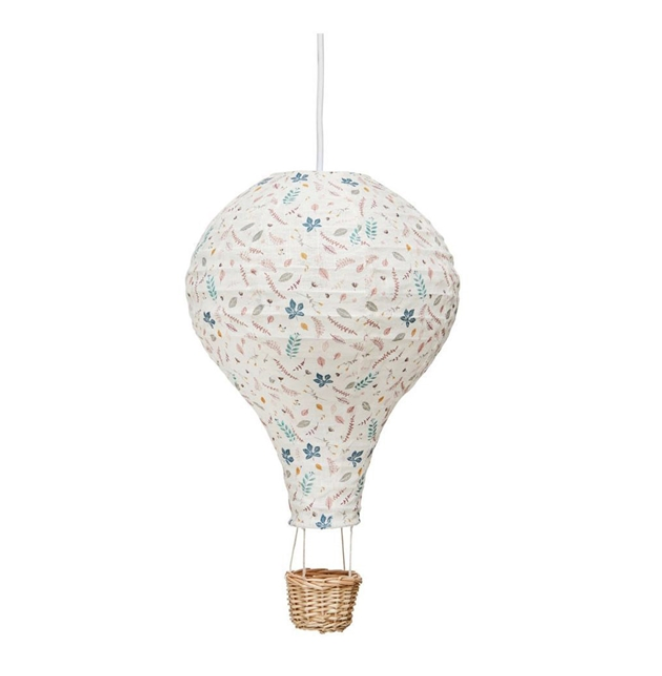 CamCam | Air Balloon Lamp Shade, Pressed Leaves Rose
