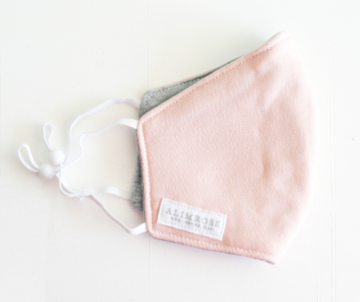 Alimrose | Child Facemask, Pink Linen