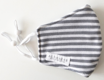 Alimrose | Child Facemask, Grey Stripe