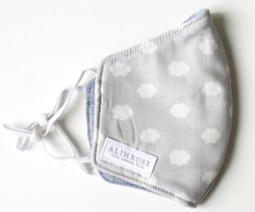 Alimrose | Child Facemask, Grey Cloud