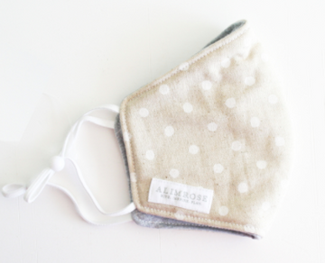 Alimrose | Child Facemask, Linen White Spot