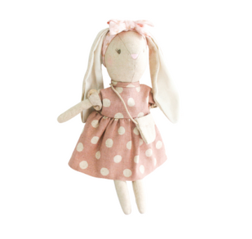 Alimrose | Sofia Linen Dress Bunny, Mauve | Little Lights Co.