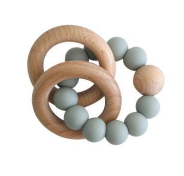 Alimrose | Beechwood Teether Rings Set - Sage