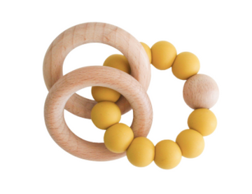 Alimrose | Beechwood Teether Rings Set - Butterscotch