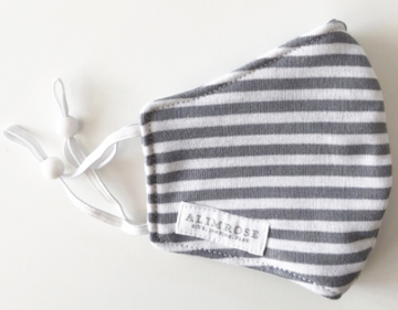 Alimrose | Mama Facemask, Grey Stripe