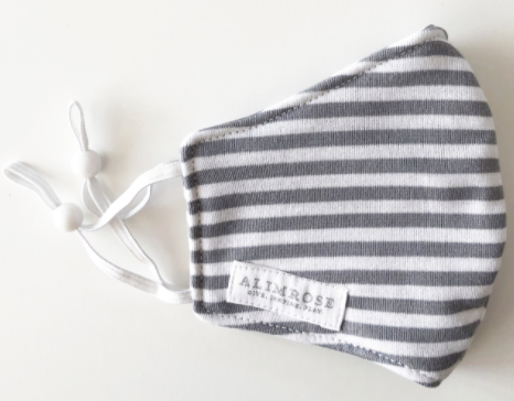 Alimrose | Mama Facemask, Grey Stripe - Little Lights Co.