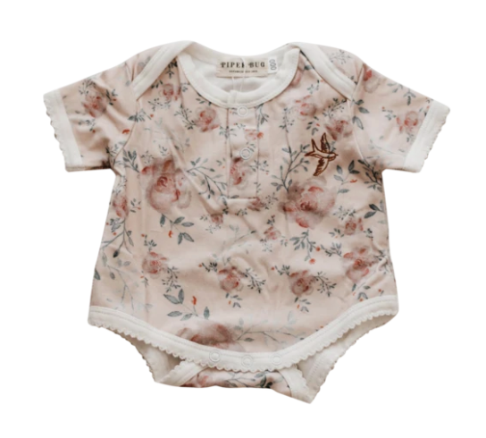 Short Sleeve Romper, Lynne | Piper Bug - Little Lights Co.